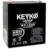 YUASA battery NP4-12 12V 4Ah Home Alarm Battery SLA Sealed Lead Acid Rechargeable Replacement battery for Alarm Control System AGM Genuine KEYKO KT-1240 F1 Terminal