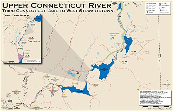 Amazon.com : Upper Connecticut River Map: Canada to West ...