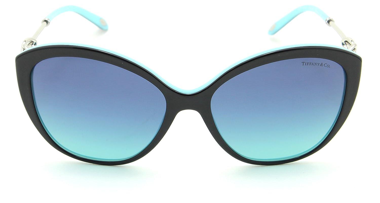 d61a83ff24f Amazon.com  Tiffany   Co. TF 4144-B Women Cat-Eye Sunglasses Blue Gradient  80559S  Clothing
