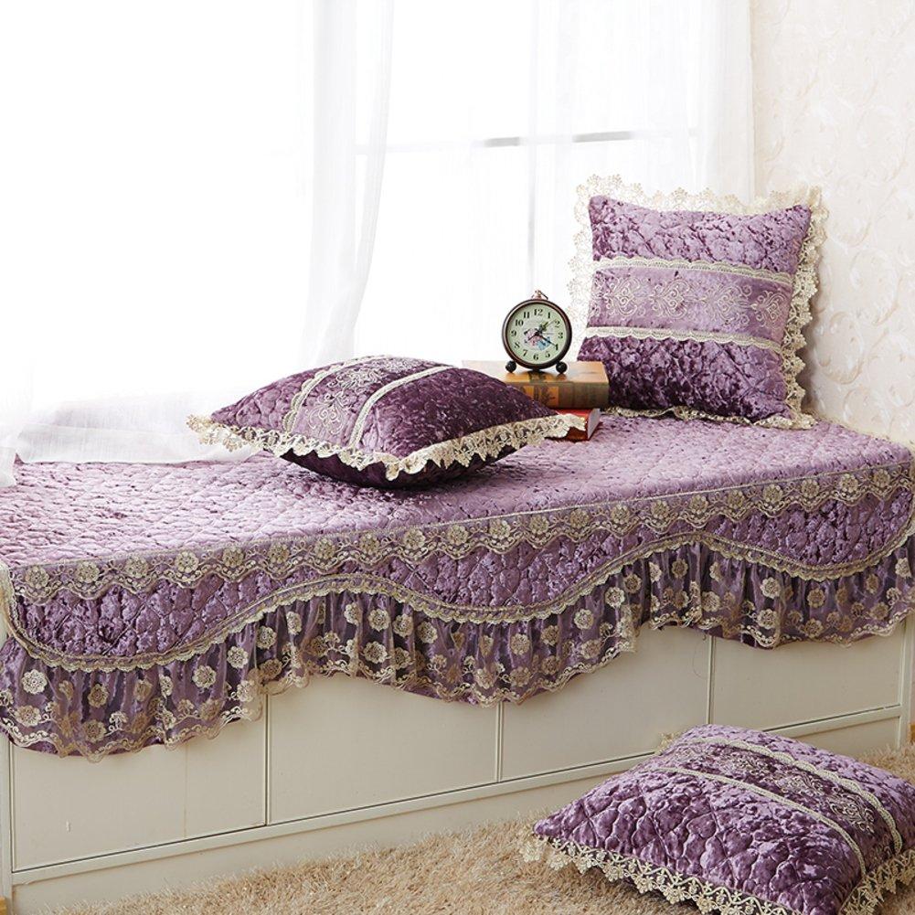 Bay window mat/balconies mats/four seasons,lace,european style,[rural],fabrics,sofa cushions/floating window mat/non-slip cushion-A 60x180cm(24x71inch)