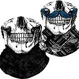 Neck Gaiter Skull Face Mask Bandana Shield for Half Face Rave Mask Men Women