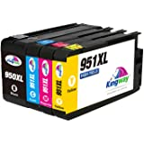Kingway Replacement for HP 950XL 951XL 950 951 Ink Cartridges Compatible with HP Officejet Pro 8600 8610 8620 8630 8640 8660 8615 8616 8625 8100 251dw 276dw Black/Cyan/Magenta/Yellow