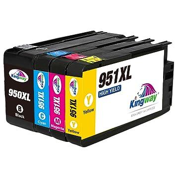 Kingway 950XL 951XL Cartuchos de Tinta para HP 950XL 951X ...