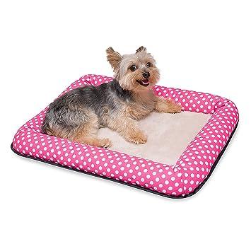 Stinky G cama perros estera de perro y gato diseño lunares 100% algodón (grandes 80 x 60 cm, rosa): Amazon.es: Juguetes y juegos