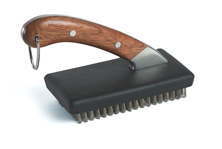 Charcoal Companion Compact Rosewood Handle Grill Brush