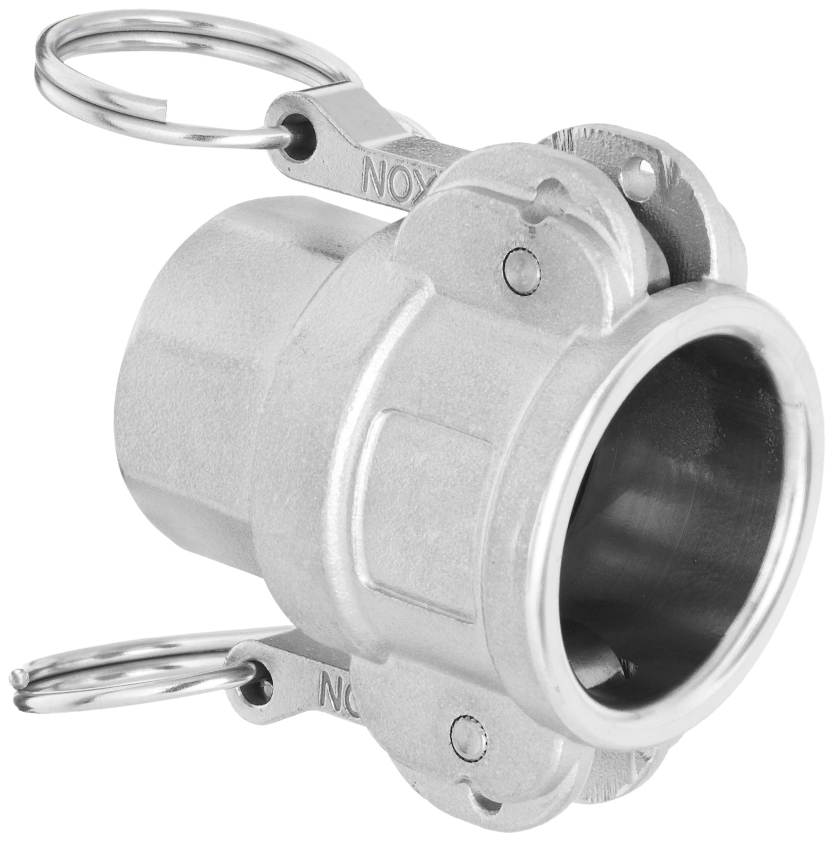 Dixon Valve & Coupling G200-D-SS Investment Cast Stainless Steel 316 Global Type D Cam and Groove Hose Fitting, 2'' Socket x 2'' NPT Female