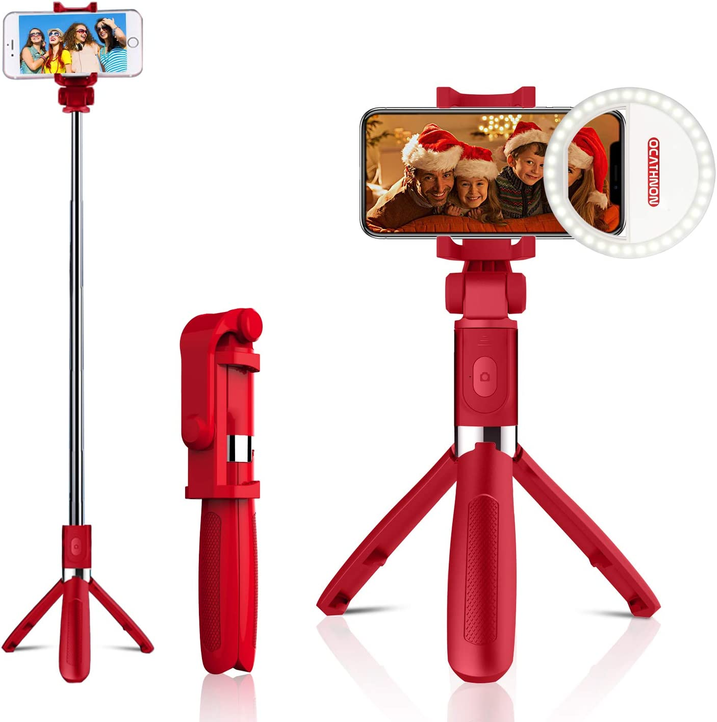 N4U Online/® Samsung Galaxy A8 Premium Handheld Selfie Stick Monopod Extendable Function with Adjustable Phone Holder Comes With Bluetooth Wireless Shutter Remote Control Black