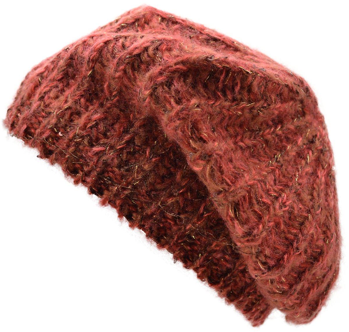 Genie by Eugenia Kim Women's Lucy Beret Hat, Pink/Burgundy,One Size by Genie by Eugenia Kim (Image #2)