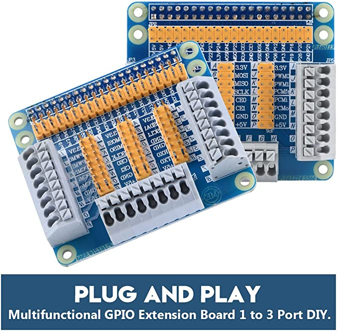 Plug and Play GPIO Extension Board 1 to 3 Port DIY Bewinner Universal Multifunctional GPIO Expansion Board for Raspberry Pi 2 3 B