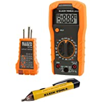 Klein Tools 69149 Multimeter Test Kit, Klein Multimeter, Noncontact Voltage Tester and Outlet Tester, Leads and…