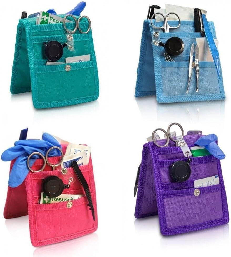 Pack 4 Salvabolsillos enfermera Keens para bata o pijama, Colores: 1 morado, 1 rosa, 1 azul y 1 verde, Lote ahorro, Elite Bags, Medidas: 14,5 x 12 cm: Amazon.es: Hogar