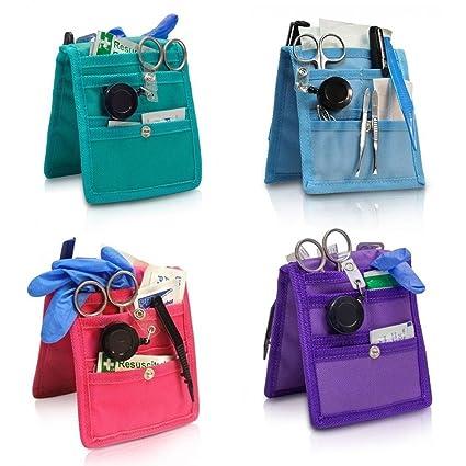 Queraltó Pack 4 organizadores de enfermería Keens para Bata o Pijama | Colores: 1 Morado