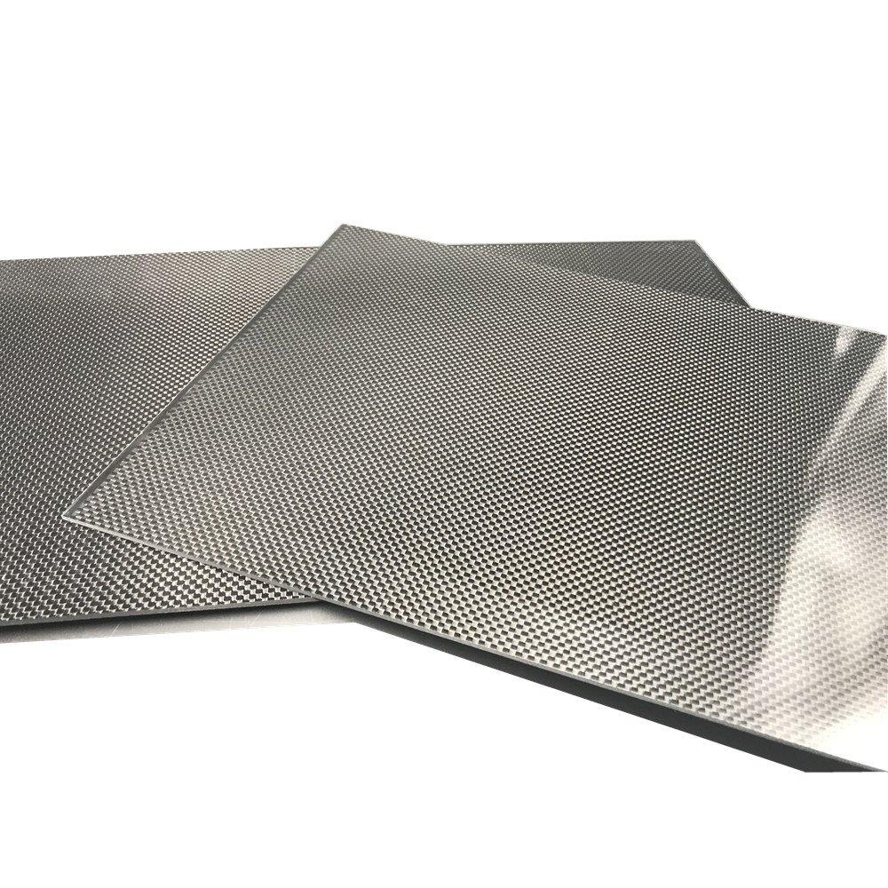 400X250X1.0MM 100% 3K Plain Weave Carbon Fiber Sheet Laminate Plate Panel by STARIMCARBON