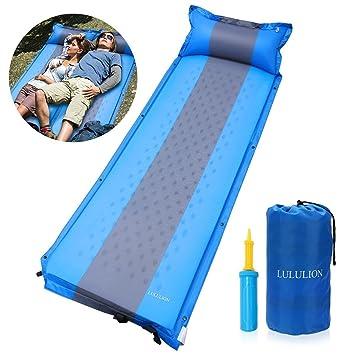 Amazon.com: LULUNION Almohadilla de dormir inflable portátil ...