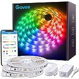 Govee Tiras LED RGBIC 2 rollos 5m, IC Incorporada con APP Multicolor, Luces LED Flexible para Navidad, Habitación, Bar…