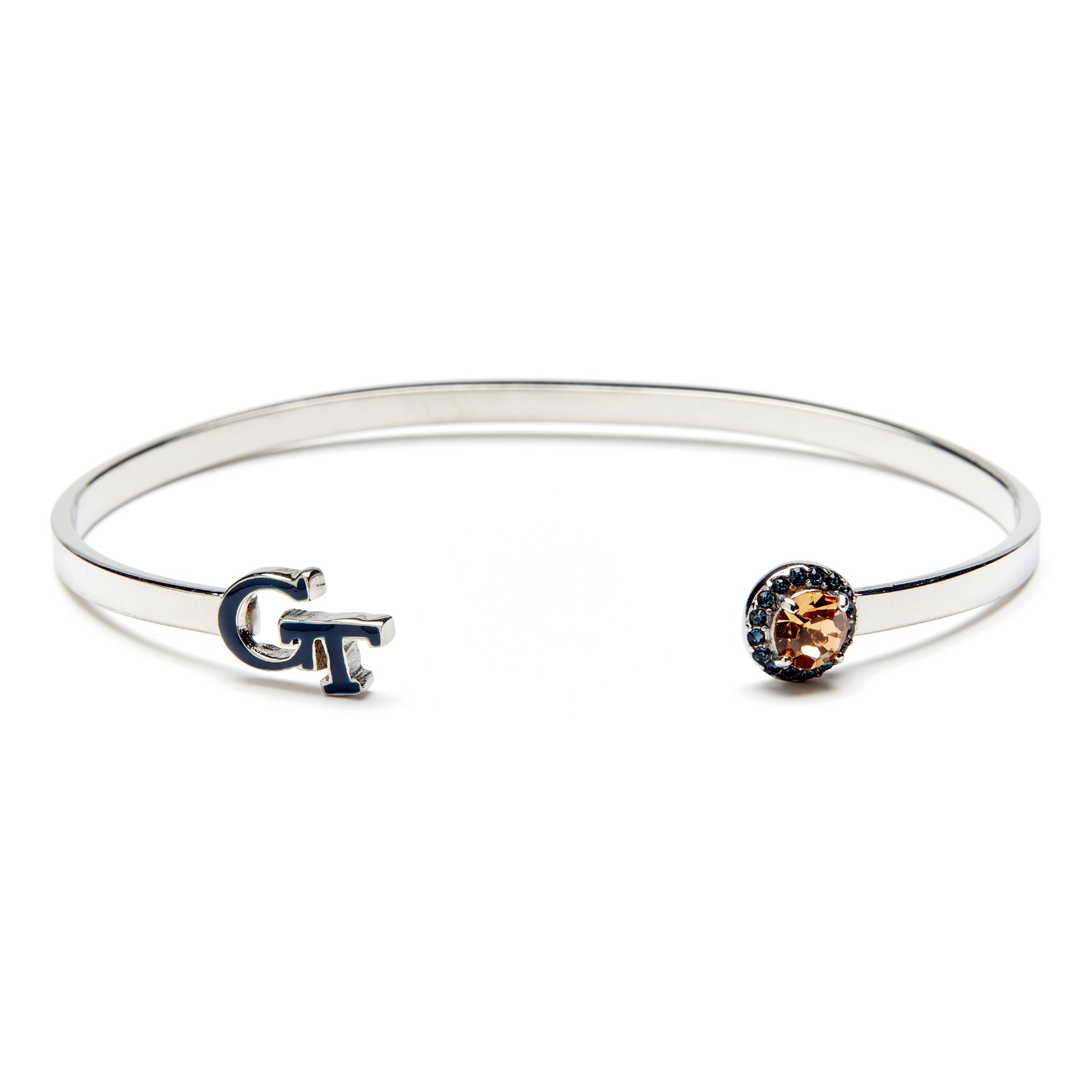 Georgia Tech Bangle   Blue GT and Crystals   Georgia Tech Gift   Officially Licensed Georgia Tech Jewelry
