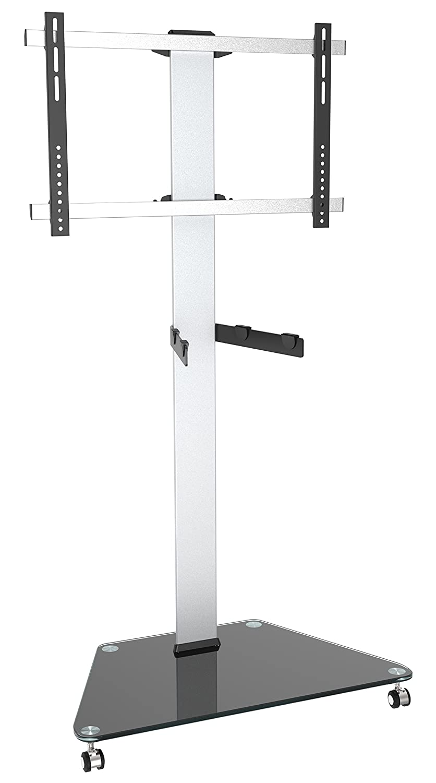 Ricoo Support Avec Roulettes Fs0300 De T L Vision En Aluminium  # Support Tv Mural Orientable Avec Tablette