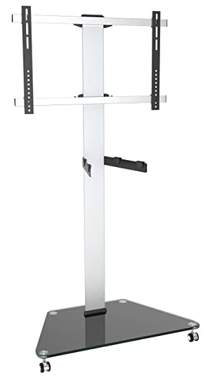RICOO FS0300 - Soporte para TV LCD, de pie, de cristal, barra giratoria, con ruedas, altura ajustable, VESA 400 x 400, universal: Amazon.es: Electrónica