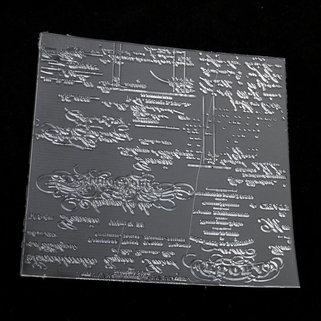 Sello Transparente de Goma Silicona para DIY Colección de Recortes Tarjeta de Invitación: Amazon.es: Oficina y papelería