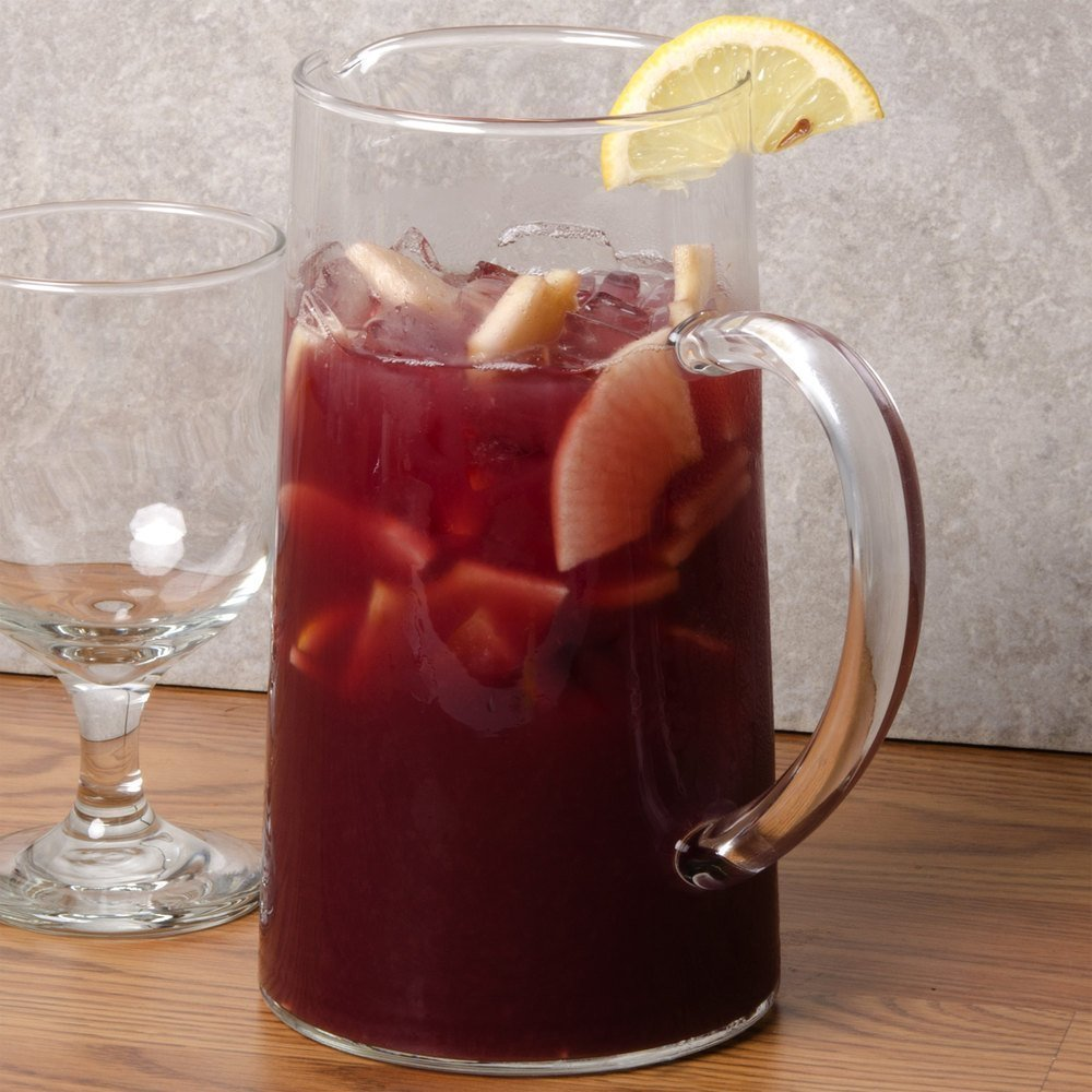 Luminarc for James Scott SMALL 43 3/4 Ounce Capacity (1.3 Liter) Glass Clear Pitcher with handle, Pour Lip-7 7/8 x 4 1/4 inch Beverage Glass Carafe for Juice Lemon Water Iced Tea by James Scott (Image #2)