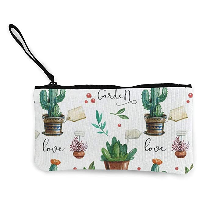hgfdhfgjrfj Canvas Coin Purse Watercolor Cactus Plant Summer Customs Zipper Pouch Wallet For Cash Bank Car Passport: Amazon.es: Ropa y accesorios