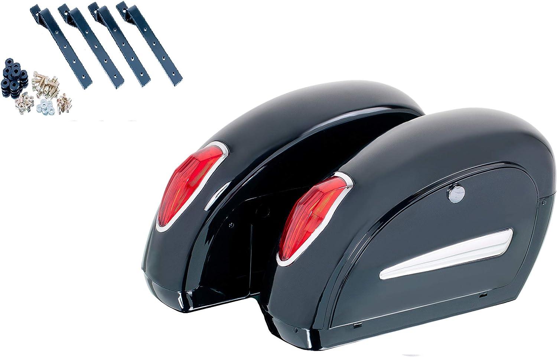 Honda CMX 500 Rebel 17-18 Customaccess AZ0253N Valises Rigides Customacces Small Kit de Montage Paire 10L