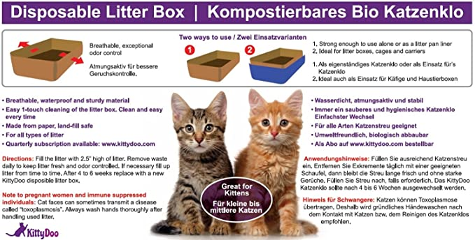 Amazon.com : KittyDoo 3-Pack Odorless Cat Litter Box Disposable Tray : Pet Supplies