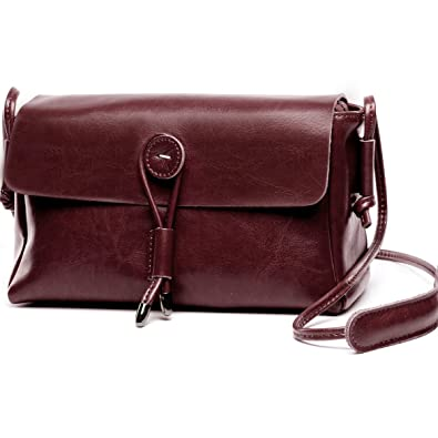 e19ed45186 Lecxci Womens Luxury Genuine Leather Crossbody Cell Phone Wallet ...
