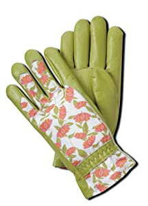 Magid BE268T Bella Floral Back Grain Palm Garden Glove, Small