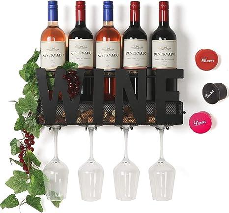 SODUKU Wall Mounted Metal Wine Rack