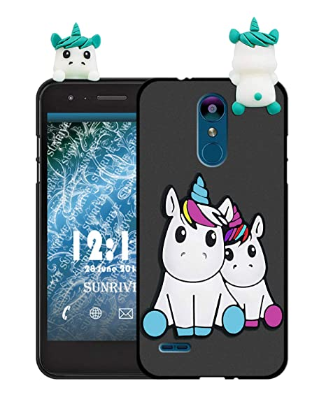 Sunrive Funda para LG K9, Silicona Mate Funda Slim Fit Gel 3D ...