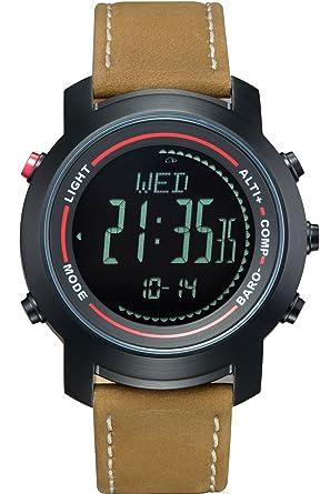 333a646638 Amazon | スポーツウォッチ コンパス 歩数計 気圧計 高度計 腕時計 デジタル アウトドア 腕時計 レディース メンズ ブラック | メンズ腕時計  | 腕時計 通販