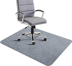 "SALLOUS Office Chair Mat, Desk Chair Mat for Hardwood Floors, 0.16"", Thick 35""x55"" Hard Floor Mat for Office, Multi-Purpose Protector Chair Carpet for Home (Light Gray)"