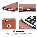OCASE iPhone 6S Case Leather Flip Wallet Case [Free