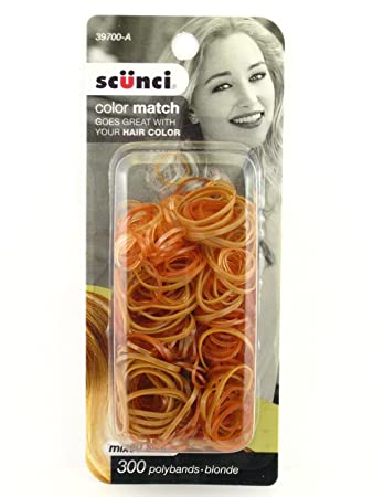 Amazon.com   Scunci Mixed Size Blonde Polyband Hair Elastics - 300 Pcs.    Beauty 2aa6e1df4d7