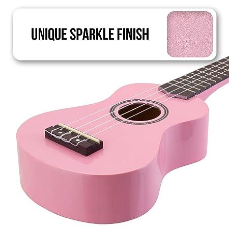 Tiger UKE7-PK - Ukelele soprano para principiantes, con funda, color rosa: Amazon.es: Instrumentos musicales