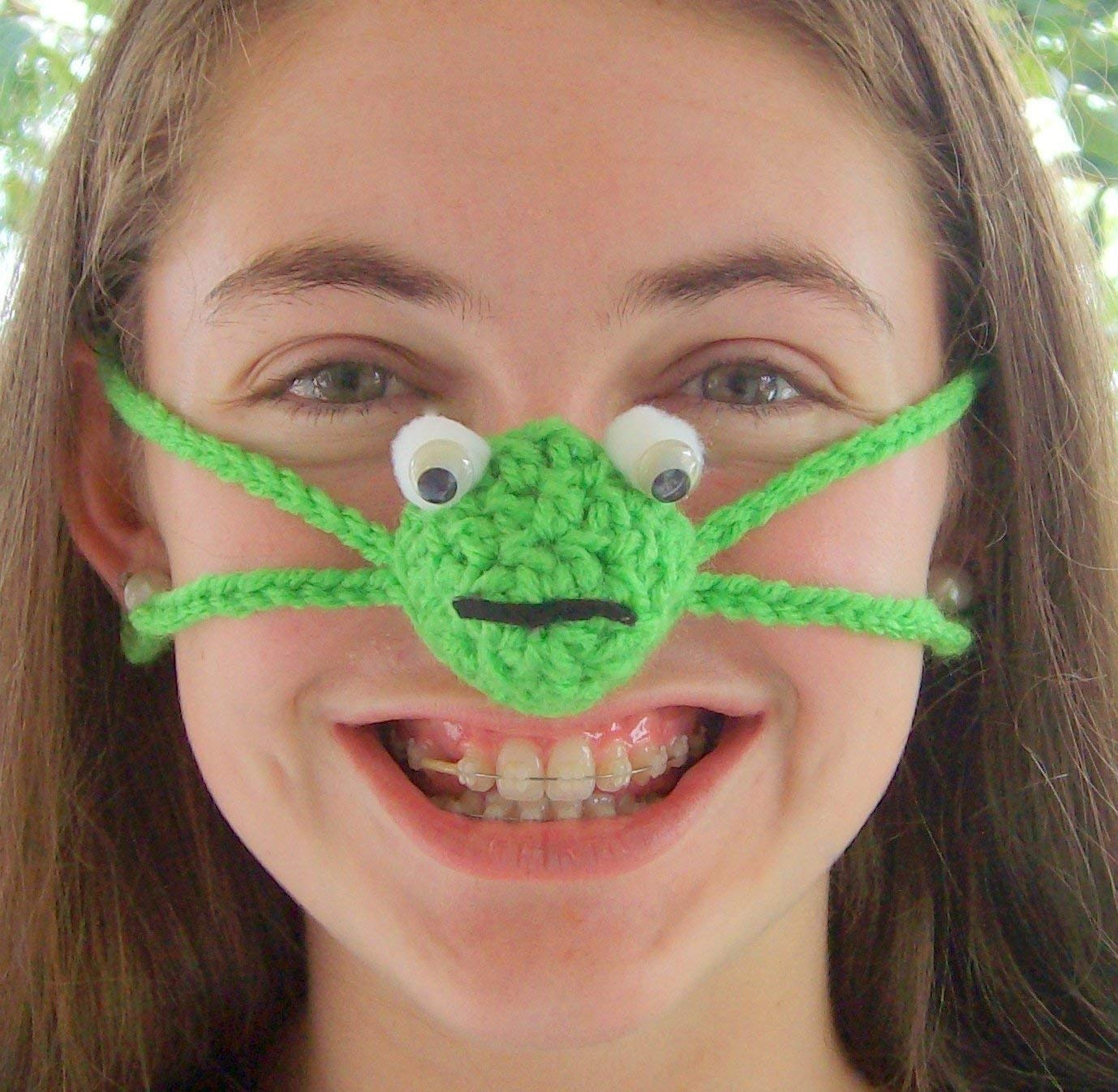 d3ac61dea314e Amazon.com  Happy Frog Nose Warmer by Aunt Marty s Original Nose Warmers   Handmade