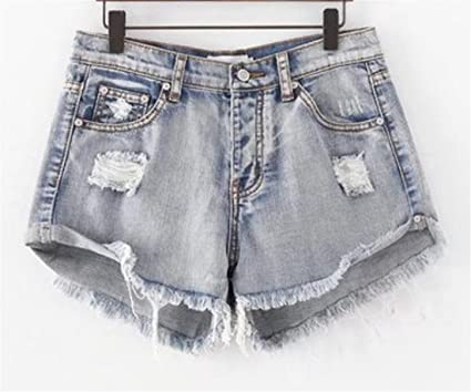 7d45819a99 UUYUK-Women Sexy Destroyed Ripped Cut Off Denim Shorts Mini Hot Shorts  Aspic 27