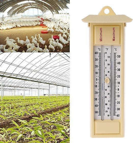 Skyvivi Termómetros de Pared Interiores y Exteriores, termómetro de jardín, termómetro para Invernadero, Monitor de Temperatura máxima mínima, de -40 a 50/120?: Amazon.es: Jardín