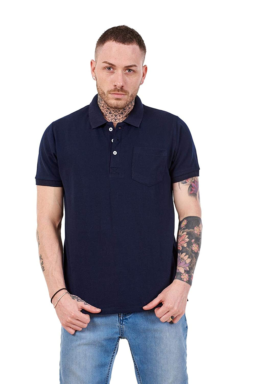 Apparel Mens Cotton T-Shirts Regular fit Plain Polo Pocket Casual Formal Shirt Top M-XXL