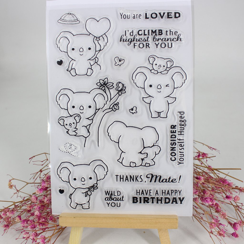 Hacloser Transparent Stamps for Card Making Dog Animal Industrial Tools DIY Silicone Cling Stamp Sheet for Scrapbooking (# 5A25793)