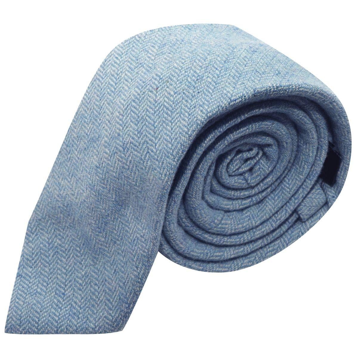 Corbata azul cielo de espiga: Amazon.es: Ropa y accesorios