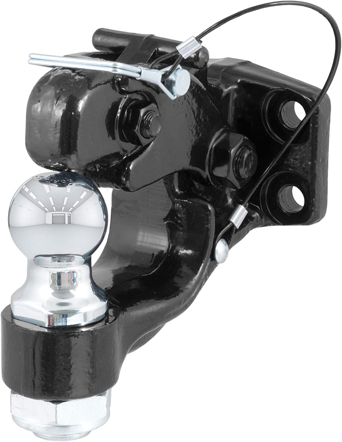 CURT 48180 Pintle Hitch with 1-7/8-Inch Trailer Hitch Ball, 16,000 lbs. Capacity, Pintle Mount Required