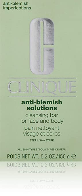 Clinique Acne Solutions Cleansing Bar for Face & Body 150g/5 2Ounce - All  Skin Types, 1 Ounce