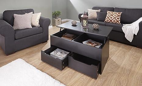 Tavolo Da Lavoro Sollevabile : Home source tavolo da soggiorno alzabile con 2 cassetti