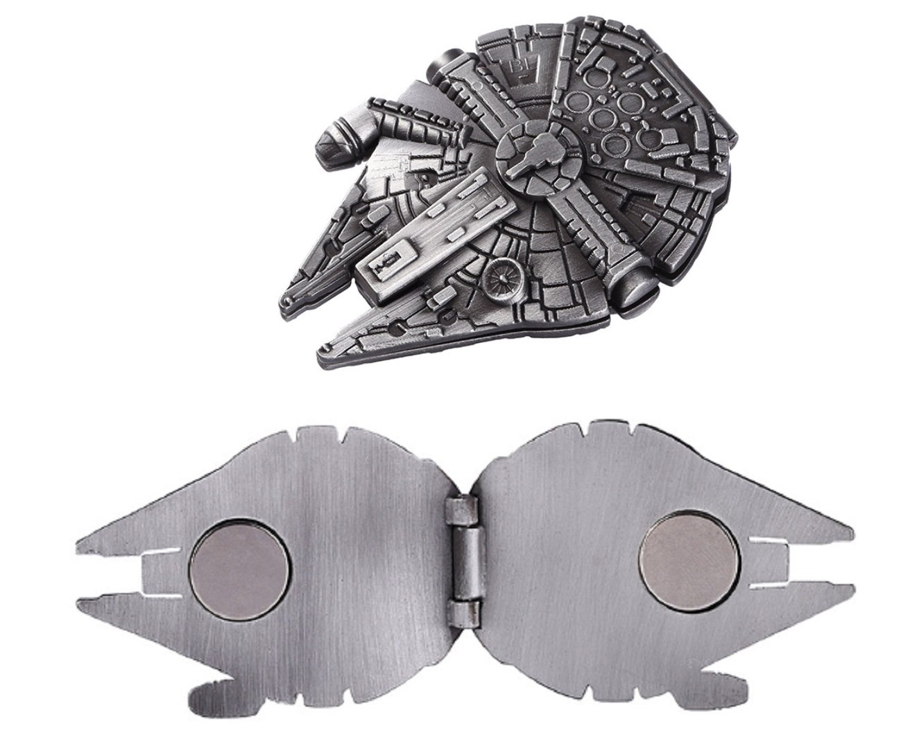 Star Wars Millenium Falcon Pewter Finish Magnetic Money Clip Wallet
