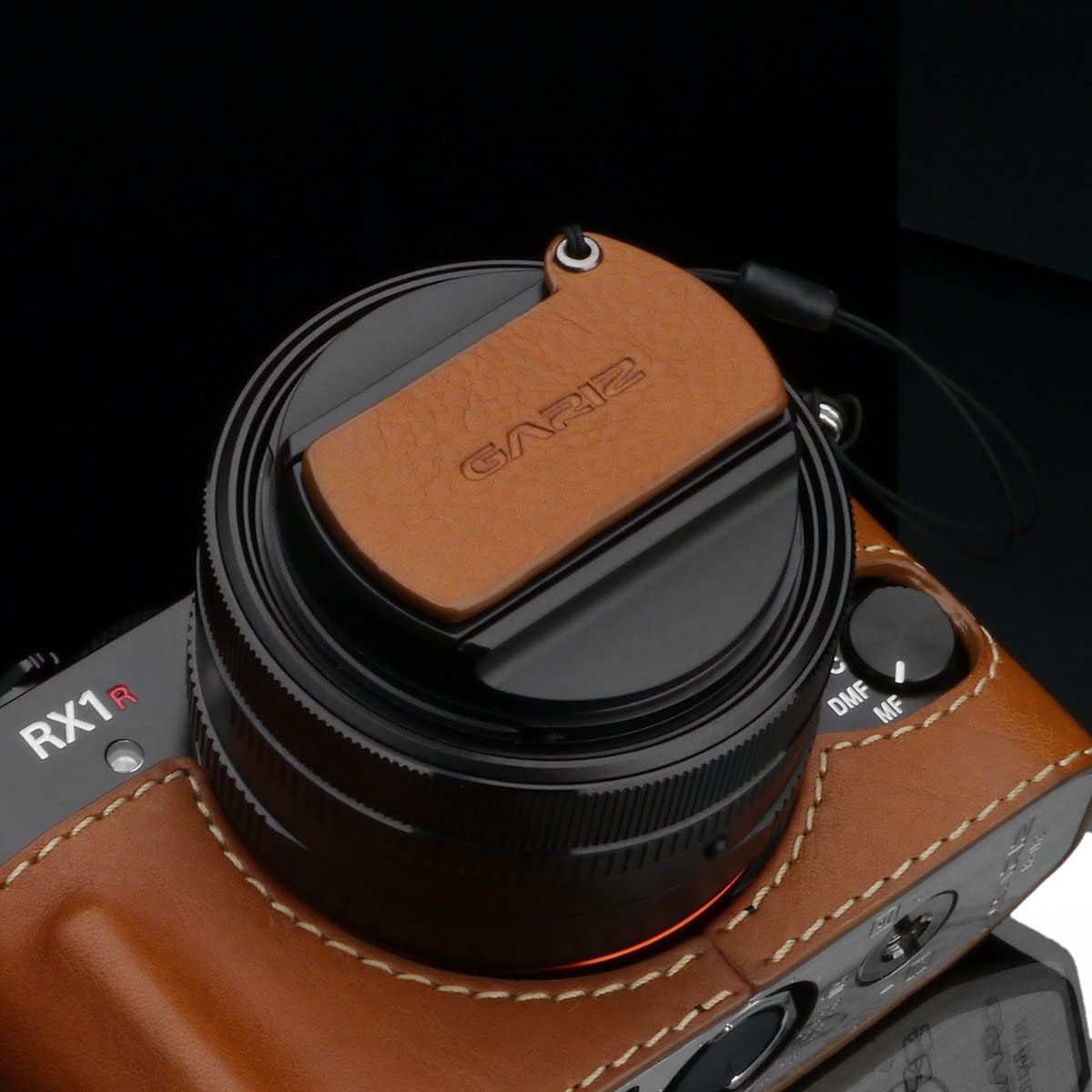 Camel Brown Gariz Leather XA-CFRX1CM Camera Capfix for Sony RX1RII RX1R Lens Cap