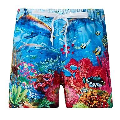 Amazon.com: Uideazone - Pantalones cortos de natación para ...