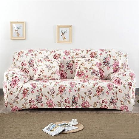 Fundas elásticas para sofá, tela, diseño de flores y pájaros, de la marca Getmorebeauty , Jane Story, 4 Seater