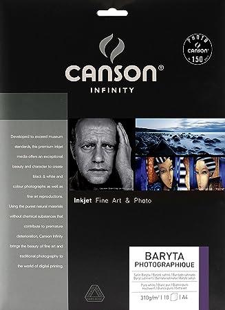 Canson Infinity - Papel fotográfico (A4, 10 hojas): Amazon.es: Oficina y papelería